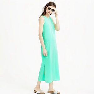 J CREW side-slit shift Maxi Dress 🍏